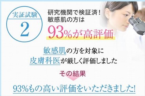 皮膚科医による敏感肌への刺激の検証