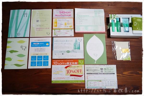 草花木果(竹)トライアルセットに入ってくる書類一式