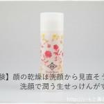 【実体験】顔の乾燥は洗顔から見直そう♪洗顔で潤う生せっけんがすごい