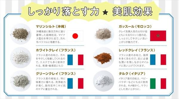 泥の種類は6種類です